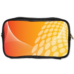 Abstract Orange Background Toiletries Bags by Simbadda