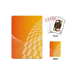 Abstract Orange Background Playing Cards (mini)  by Simbadda