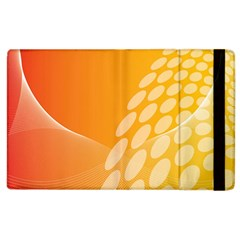 Abstract Orange Background Apple Ipad 2 Flip Case by Simbadda