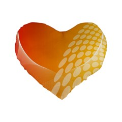 Abstract Orange Background Standard 16  Premium Heart Shape Cushions by Simbadda