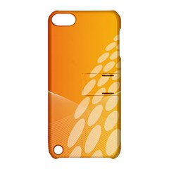 Abstract Orange Background Apple Ipod Touch 5 Hardshell Case With Stand by Simbadda
