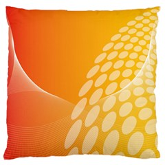Abstract Orange Background Standard Flano Cushion Case (one Side) by Simbadda