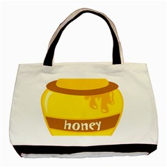 Honet Bee Sweet Yellow Basic Tote Bag