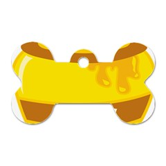 Honet Bee Sweet Yellow Dog Tag Bone (two Sides)