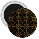 Digitally Created Seamless Pattern Tile 3  Magnets Front