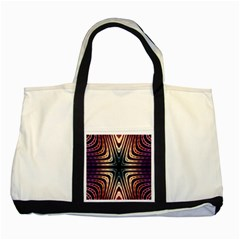 Vibrant Pattern Colorful Seamless Pattern Two Tone Tote Bag by Simbadda
