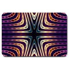 Vibrant Pattern Colorful Seamless Pattern Large Doormat  by Simbadda