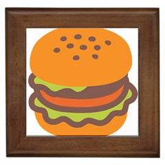Hamburger Framed Tiles by Alisyart