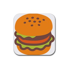 Hamburger Rubber Square Coaster (4 Pack)  by Alisyart