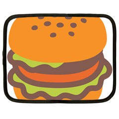 Hamburger Netbook Case (large) by Alisyart