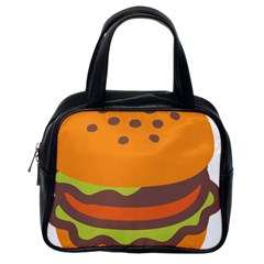Hamburger Classic Handbags (one Side) by Alisyart