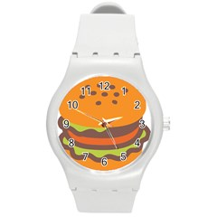 Hamburger Round Plastic Sport Watch (m)