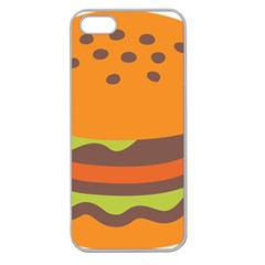 Hamburger Apple Seamless Iphone 5 Case (clear) by Alisyart