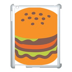 Hamburger Apple Ipad 3/4 Case (white)