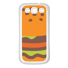 Hamburger Samsung Galaxy S3 Back Case (white)