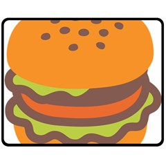 Hamburger Double Sided Fleece Blanket (medium)  by Alisyart