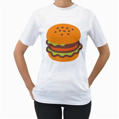 Hamburger Women s T Shirt (white)