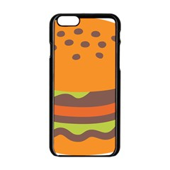 Hamburger Apple Iphone 6/6s Black Enamel Case by Alisyart