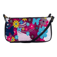 Floral Butterfly Hair Woman Shoulder Clutch Bags by Alisyart