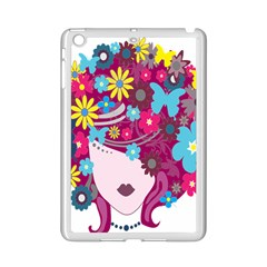 Floral Butterfly Hair Woman Ipad Mini 2 Enamel Coated Cases