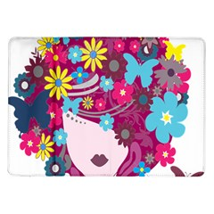 Floral Butterfly Hair Woman Samsung Galaxy Tab 10 1  P7500 Flip Case by Alisyart