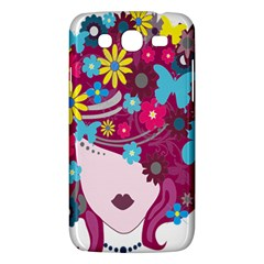Floral Butterfly Hair Woman Samsung Galaxy Mega 5 8 I9152 Hardshell Case  by Alisyart