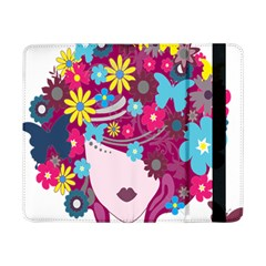 Floral Butterfly Hair Woman Samsung Galaxy Tab Pro 8 4  Flip Case by Alisyart
