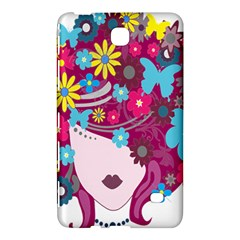 Floral Butterfly Hair Woman Samsung Galaxy Tab 4 (8 ) Hardshell Case  by Alisyart