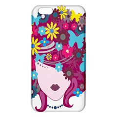 Floral Butterfly Hair Woman Iphone 6 Plus/6s Plus Tpu Case by Alisyart