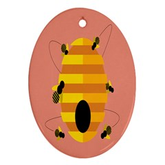 Honeycomb Wasp Ornament (oval) by Alisyart
