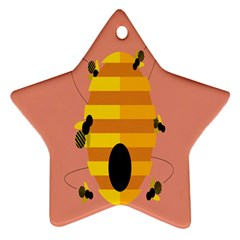 Honeycomb Wasp Star Ornament (two Sides) by Alisyart