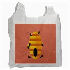 Honeycomb Wasp Recycle Bag (two Side)  by Alisyart