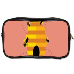 Honeycomb Wasp Toiletries Bags 2 Side