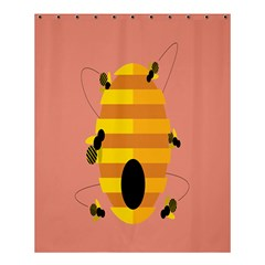 Honeycomb Wasp Shower Curtain 60  X 72  (medium)  by Alisyart