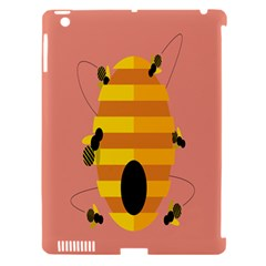 Honeycomb Wasp Apple Ipad 3/4 Hardshell Case (compatible With Smart Cover)