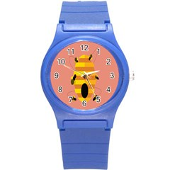 Honeycomb Wasp Round Plastic Sport Watch (s) by Alisyart