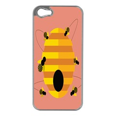 Honeycomb Wasp Apple Iphone 5 Case (silver) by Alisyart