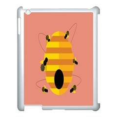 Honeycomb Wasp Apple Ipad 3/4 Case (white)