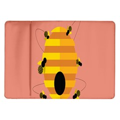 Honeycomb Wasp Samsung Galaxy Tab 10 1  P7500 Flip Case by Alisyart