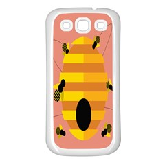 Honeycomb Wasp Samsung Galaxy S3 Back Case (white) by Alisyart