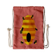 Honeycomb Wasp Drawstring Bag (small) by Alisyart