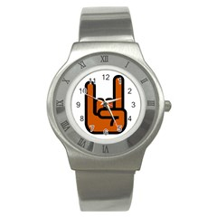 Metal Hand Stainless Steel Watch by Alisyart