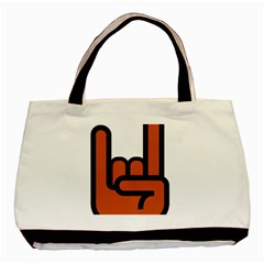 Metal Hand Basic Tote Bag by Alisyart