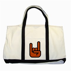 Metal Hand Two Tone Tote Bag by Alisyart