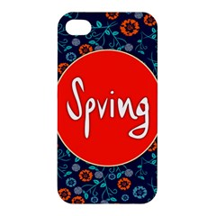Floral Texture Pattern Card Floral Seamless Vector Apple Iphone 4/4s Premium Hardshell Case by Simbadda
