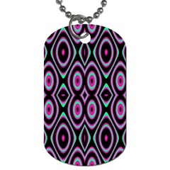 Colorful Seamless Pattern Vibrant Pattern Dog Tag (two Sides) by Simbadda