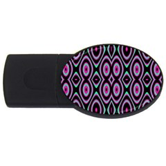 Colorful Seamless Pattern Vibrant Pattern Usb Flash Drive Oval (4 Gb)