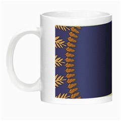 Frame Of Leafs Pattern Background Night Luminous Mugs