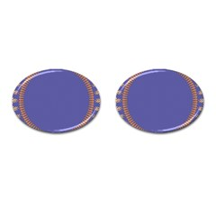 Frame Of Leafs Pattern Background Cufflinks (oval) by Simbadda