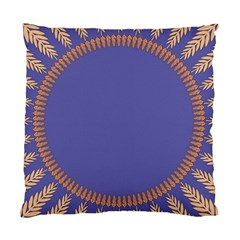 Frame Of Leafs Pattern Background Standard Cushion Case (one Side) by Simbadda